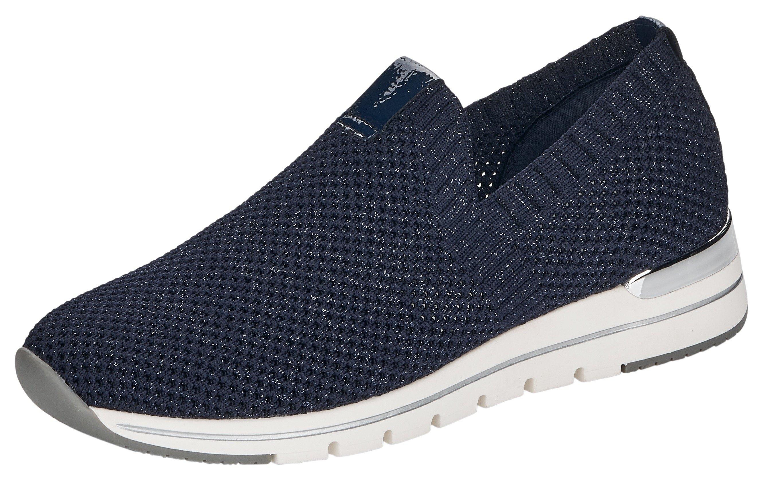 Remonte slip-on sneakers met fijne glinstering - verschillende betaalmethodes
