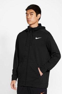 nike trainingsjack nike dri-fit men's full-zip training hoodie zwart