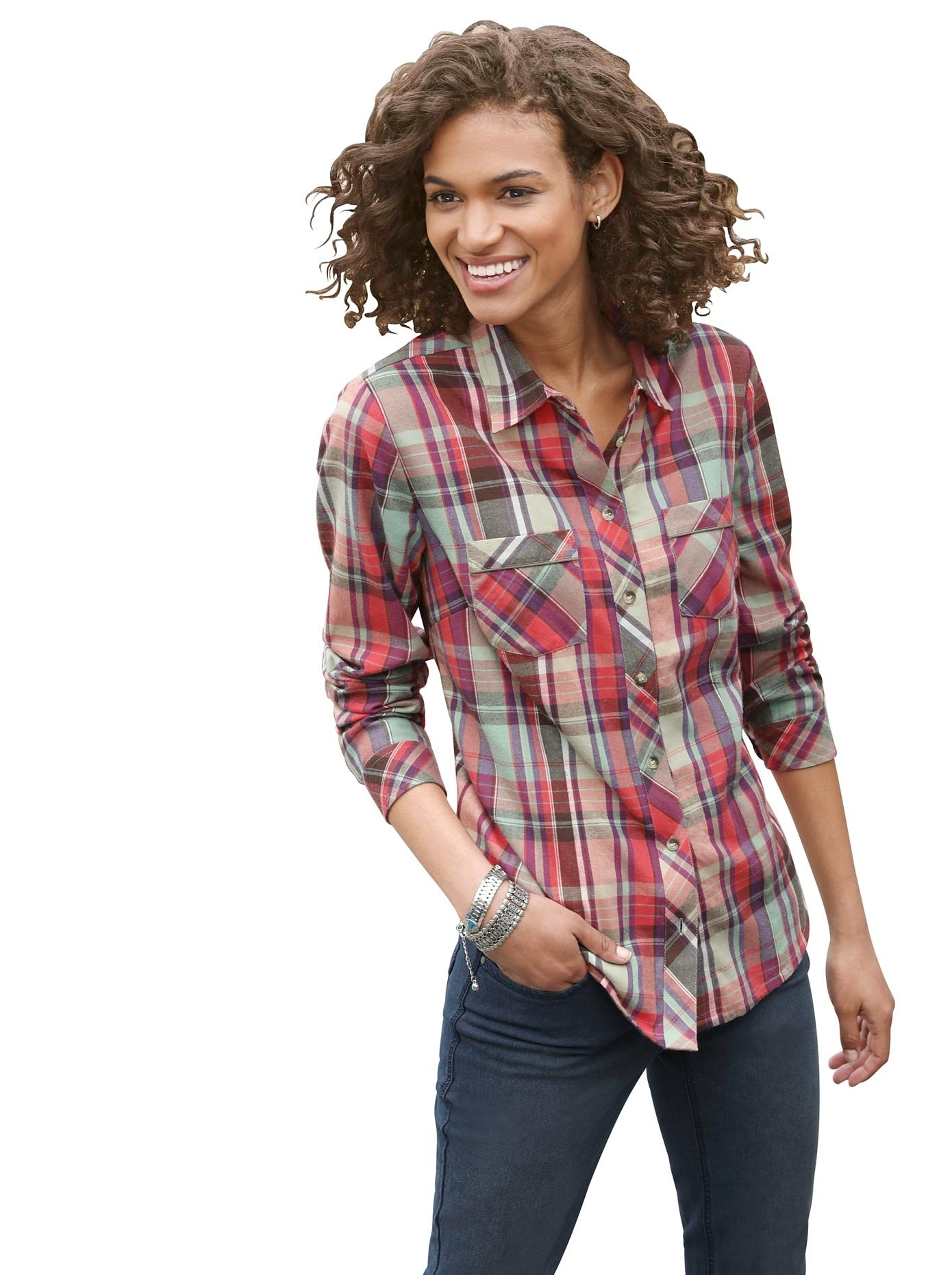 Casual Looks flanellen blouse in zachte kwaliteit online kopen op otto.nl