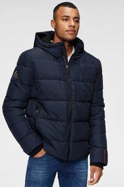 superdry gewatteerde jas »sports puffer« blauw