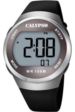 calypso watches chronograaf color splash, k5786-4 zwart