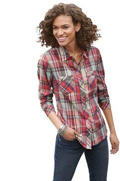 casual looks flanellen blouse in zachte kwaliteit oranje