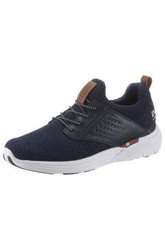 dockers by gerli slip-on sneakers in de materiaalmix blauw
