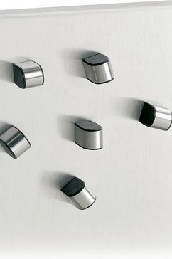 blomus magneet magneten, set van 6 -tewo- (set, 6 stuks) zilver