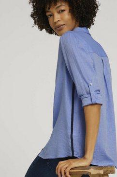tom tailor mine to five blouse met lange mouwen blouse met contraststrepen blauw