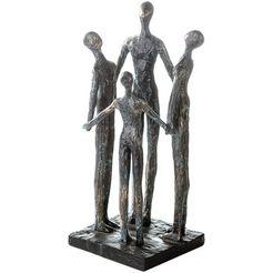 casablanca by gilde decoratief figuur sculptuur group decoratief object, hoogte 30 cm, met teksthanger, woonkamer (1 stuk) geel