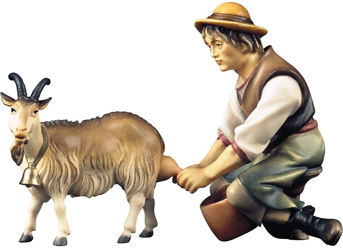 ULPE WOODART kribbefiguur Herders met geit tot melken Handwerk, hoogwaardig houtsnijwerk (set, 2 stuks) nu online kopen bij OTTO