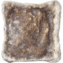 star home textil sierkussen zilvervos bijzonder zacht en van hoge kwaliteit (1 stuk) zilver