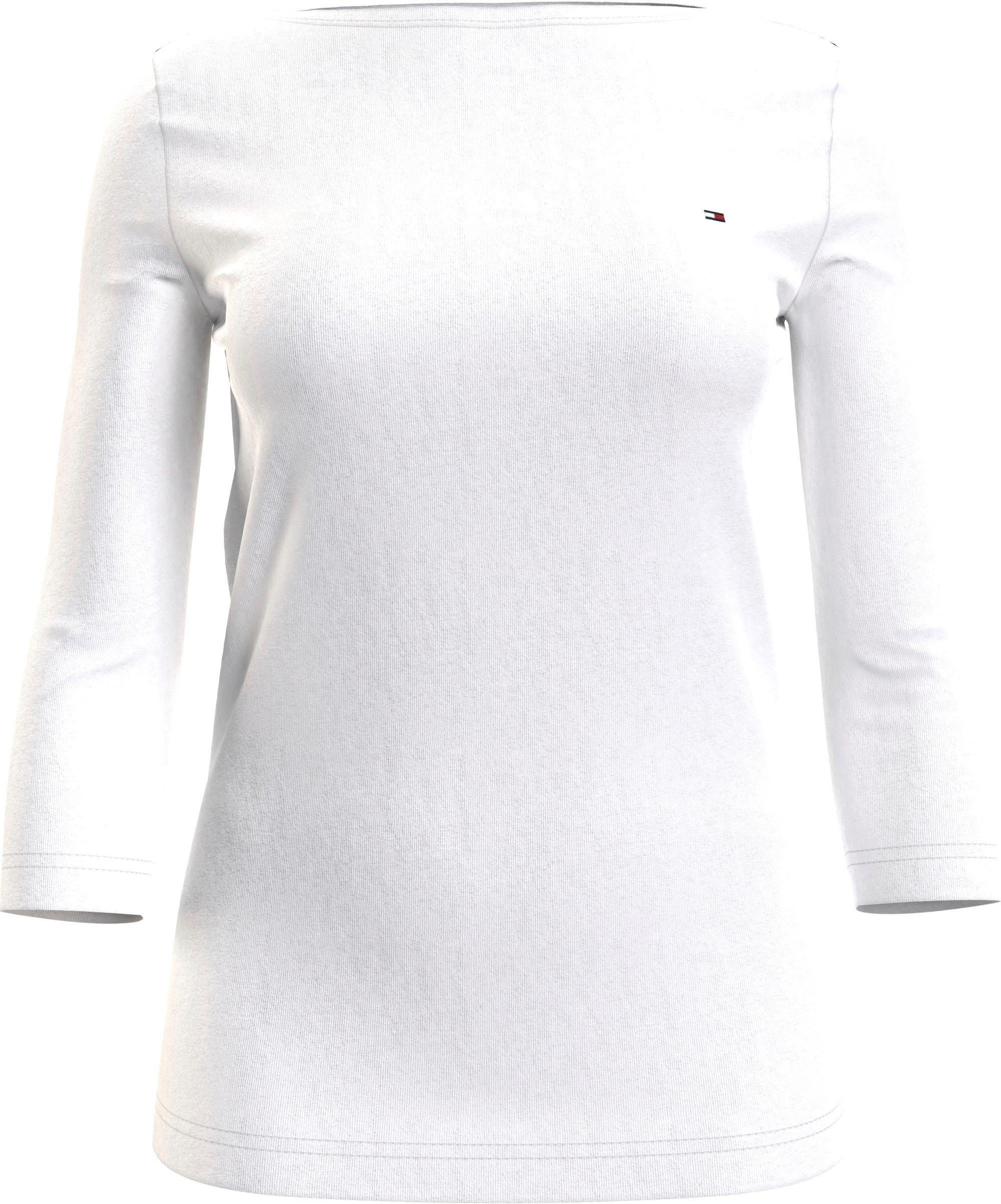 Tommy Hilfiger shirt met 3/4-mouwen BOAT NECK TEE 3/4 met tommy hilfiger-merklabel op borsthoogte veilig op otto.nl kopen