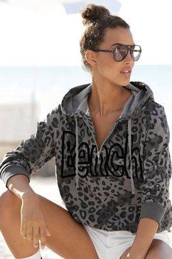 bench. sweatshirt met dierenprint grijs
