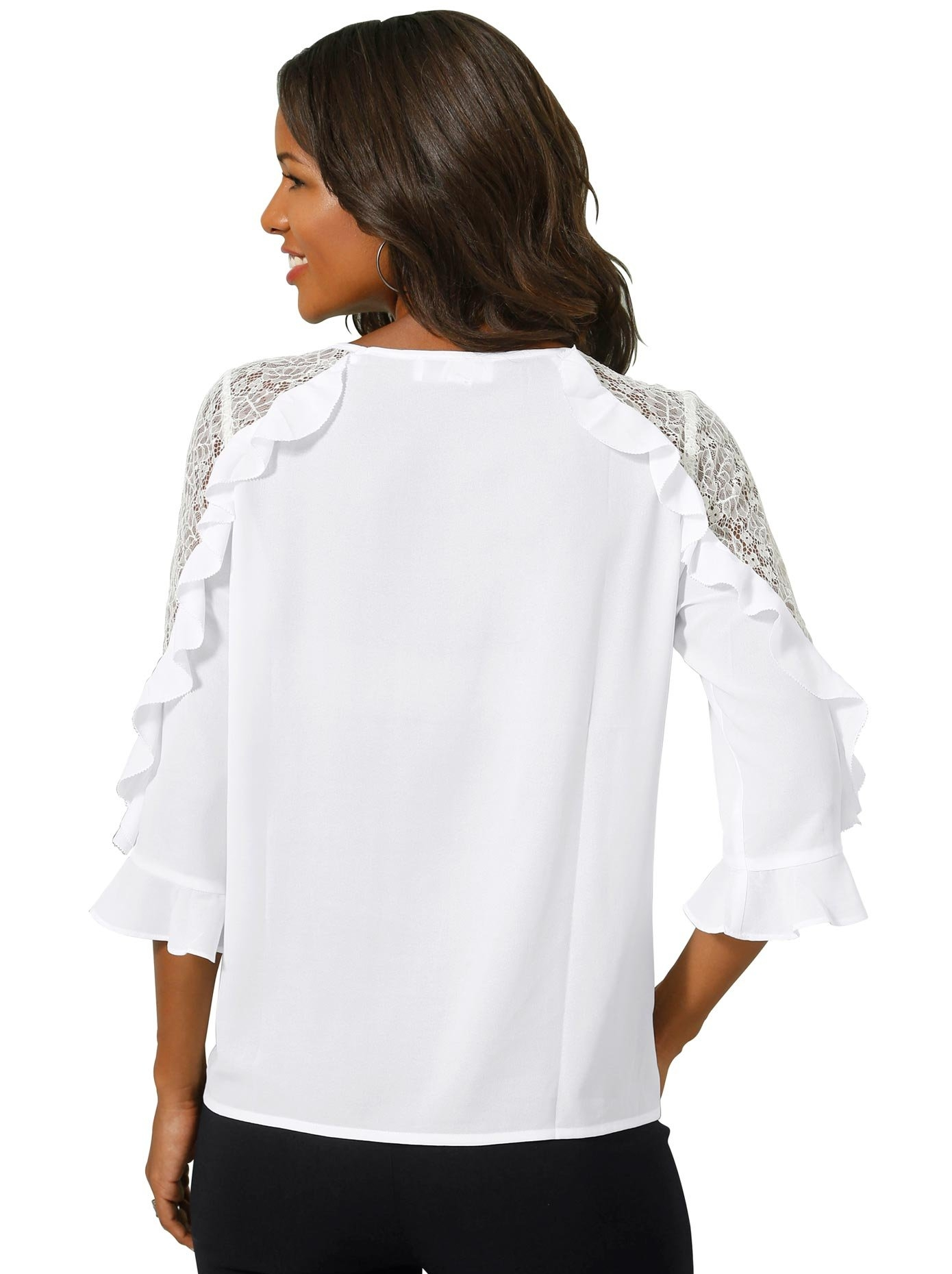 Alessa W. kanten blouse - verschillende betaalmethodes