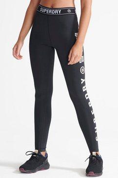 superdry sport runningtights training elastic leggin zwart
