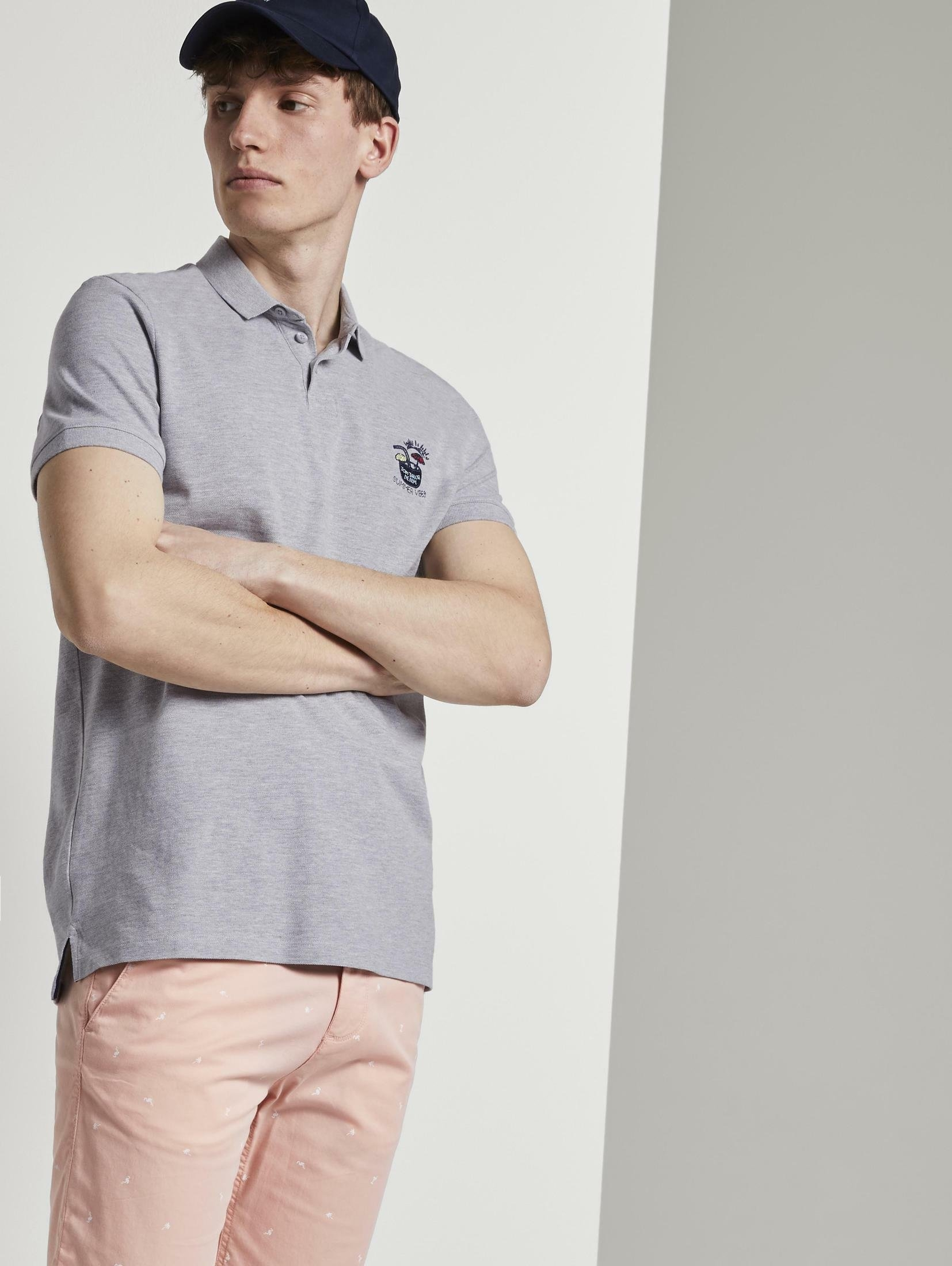 Tom Tailor Denim poloshirt »Poloshirt mit Print« bestellen: 30 dagen bedenktijd