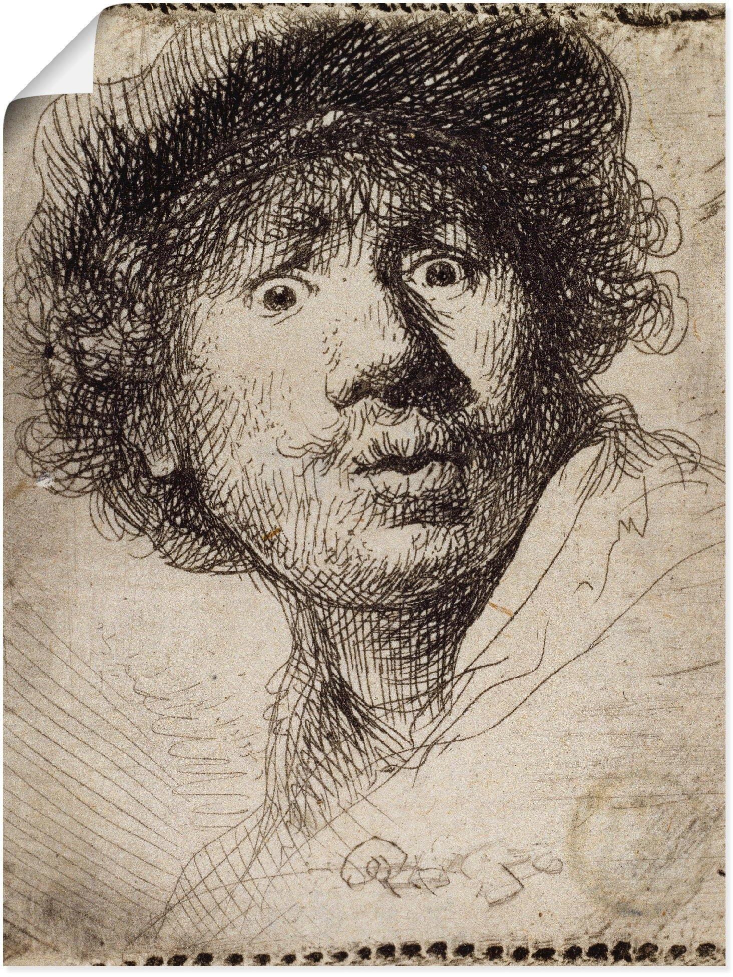 Op zoek naar een Artland artprint »Selbstbildnis mit aufgerissenen Augen«? Koop online bij OTTO