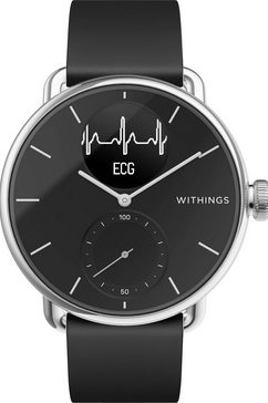withings smartwatch scanwatch, 38 mm zwart