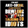 artland print op glas grappig motto voor bowling-fans (1 stuk) geel