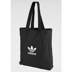 adidas originals sporttas »adicolor shopper« zwart