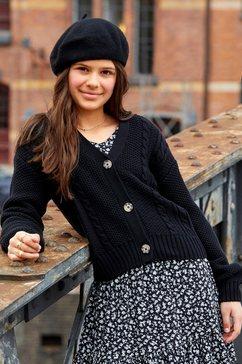 kidsworld vest in kort, wijd model zwart