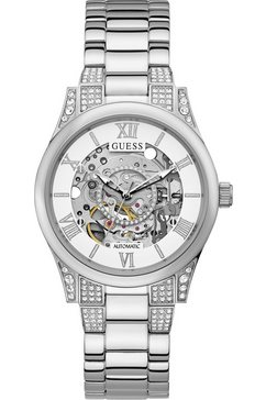 guess automatisch horloge aries, gw0115l1 zilver