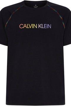 calvin klein performance t-shirt wo - pride s-s t-shirt zwart