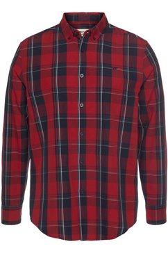 mustang overhemd met lange mouwen geruit rood
