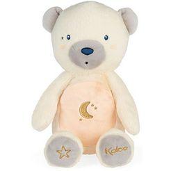 kaloo knuffelbeest home, beer met nachtlicht wit