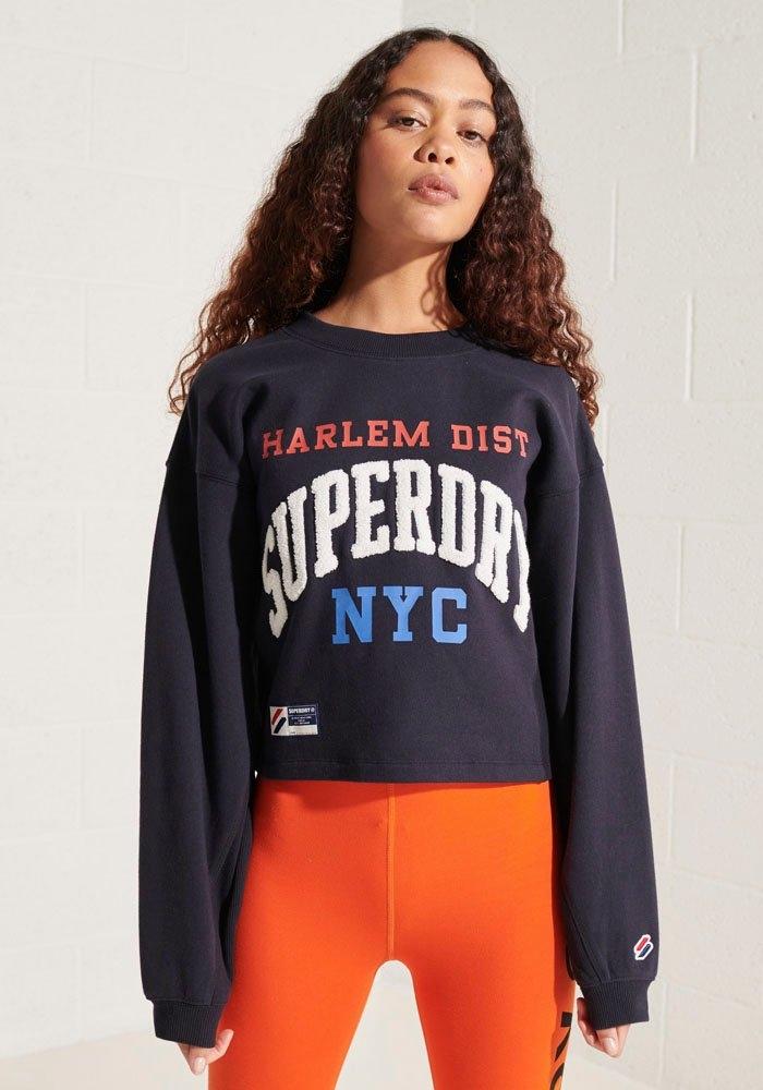 Superdry sweater Varsity Arch Met vlindermouwen nu online bestellen
