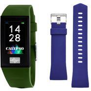 calypso watches smartwatch smartime, k8500-8 met wisselband (set, 2-delig, met blauwe wisselband) groen