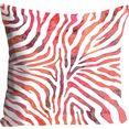 queence kussenovertrek rene met dierenprint in zebra-dessin (1 stuk) oranje
