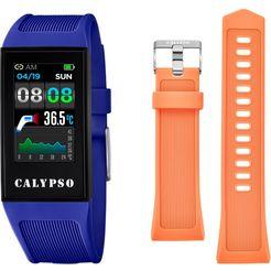 calypso watches smartwatch k8501-2 (set, 2-delig, met oranje wisselband)