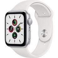 apple watch se gps, aluminium kast met sportbandje 44 mm inclusief oplaadstation (magnetische oplaadkabel) wit