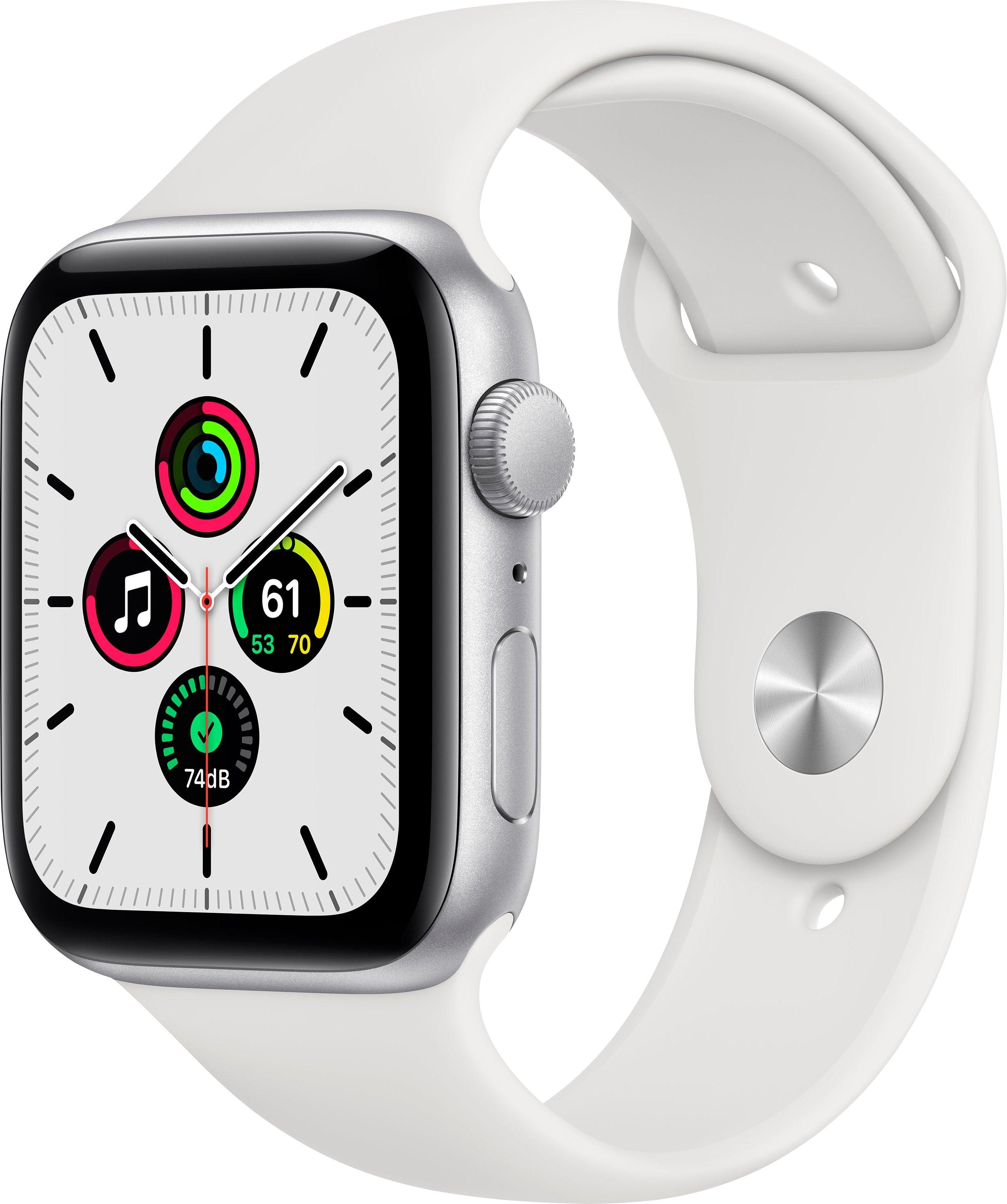 Apple watch SE gps, aluminium kast met sportbandje 44 mm inclusief oplaadstation (magnetische oplaadkabel) - gratis ruilen op otto.nl