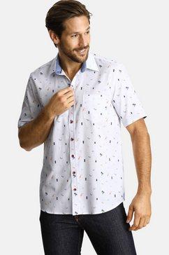 shirtmaster overhemd met korte mouwen »cocktailinspiration« wit