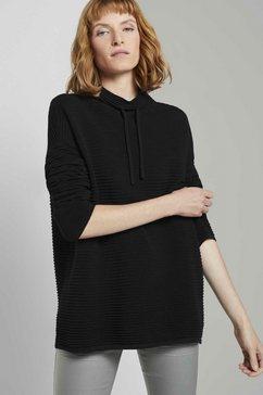 tom tailor trui met staande kraag zwart