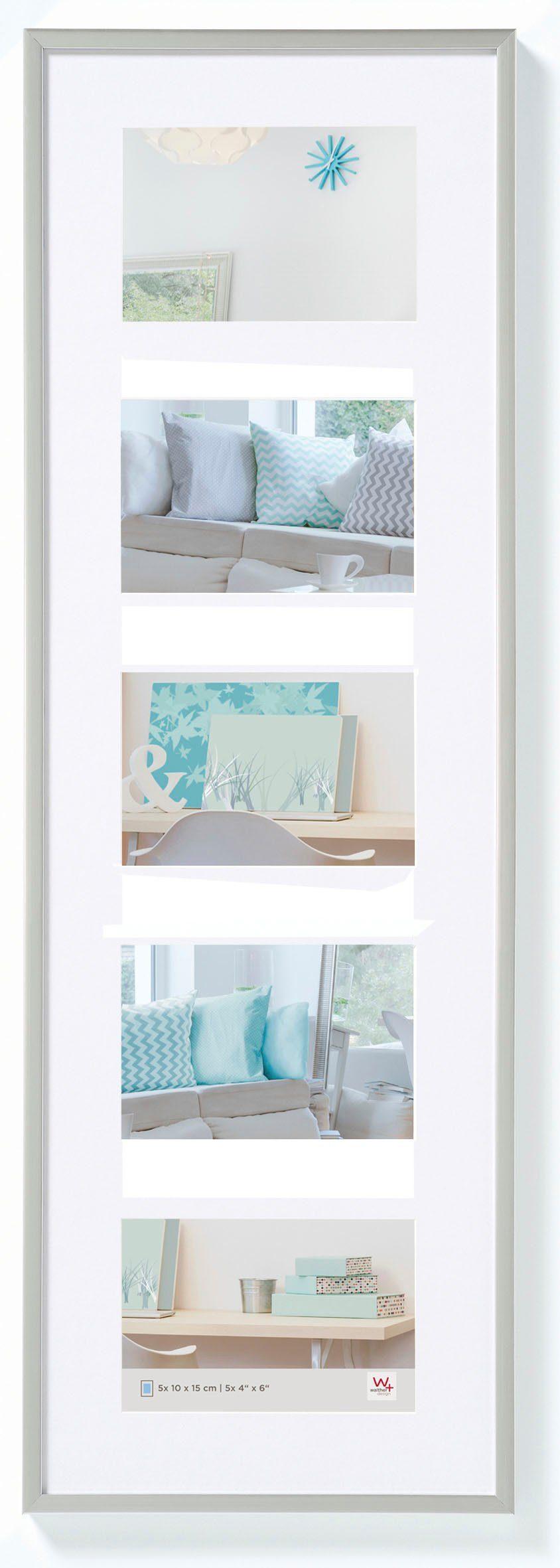 Walther Design New Lifestyle Fotolijst Fotoformaat 5x 10x15 cm Zilver online kopen