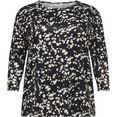only carmakoma shirt met ronde hals alba met 3-4-mouwen zwart