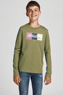 jack  jones junior shirt met lange mouwen groen
