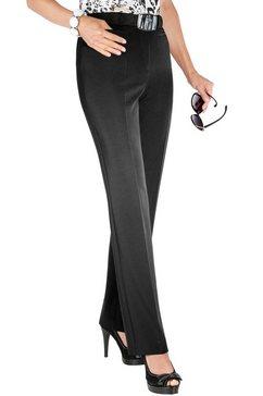pantalon met persplooien zwart