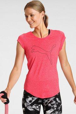 puma trainingsshirt performance heather cat tee roze