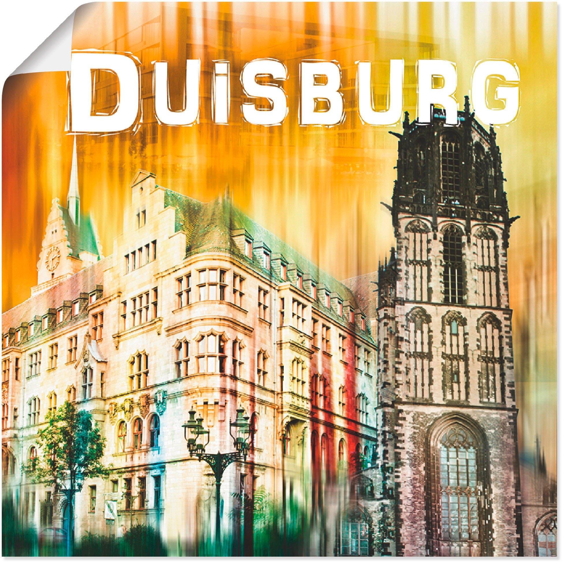 Artland artprint Duisburg collage stadsaanzicht 04 in vele afmetingen & productsoorten -artprint op linnen, poster, muursticker / wandfolie ook geschikt voor de badkamer (1 stuk) goedkoop op otto.nl kopen
