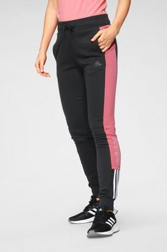 adidas performance joggingbroek »w lin t c pt« zwart