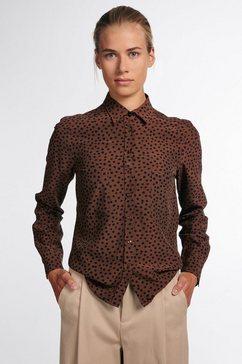 eterna overhemdblouse modern classic lange mouwen bruin