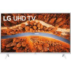 "lg lcd-led-tv 43up76909le, 108 cm - 43 "", 4k ultra hd, smart-tv, lg local contrast | spraakondersteuning | hdr10 pro | lg thinq | wit | inclusief magic-remote afstandsbediening wit"