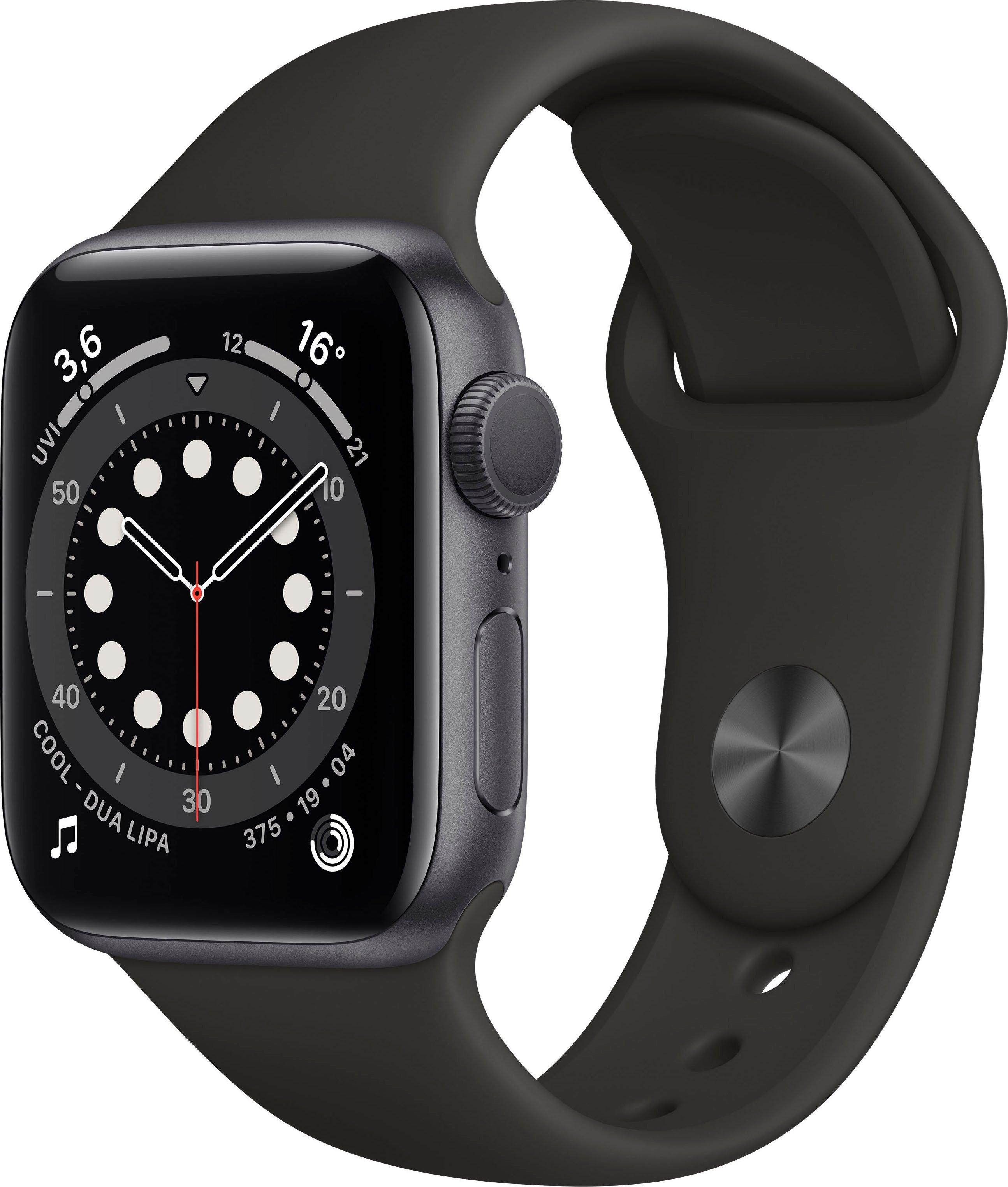 Apple watch Series 6 gps, aluminium kast met sportbandje 40 mm inclusief oplaadstation (magnetische oplaadkabel) veilig op otto.nl kopen