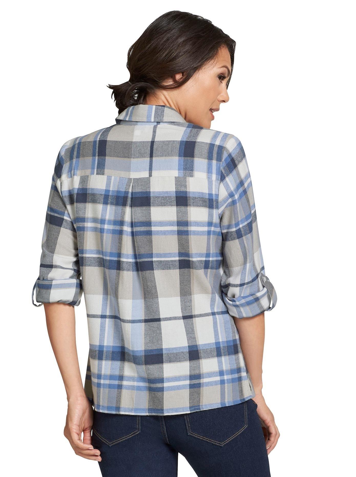 Casual Looks blouse in sportief ruitdessin nu online bestellen