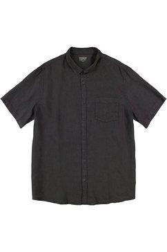 esprit overhemd met korte mouwen van linnen zwart
