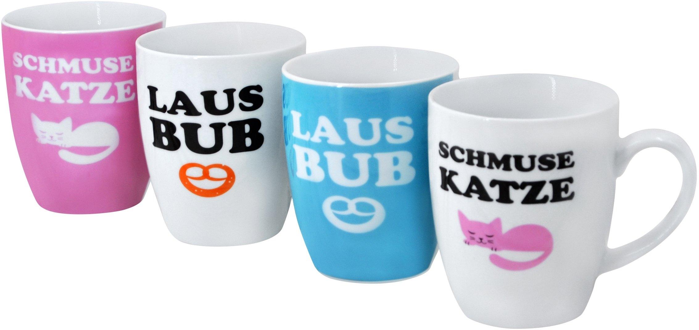 Retsch Arzberg beker Schmusekatze & Lausbub 4-delig (set, 4-delig) in de webshop van OTTO kopen