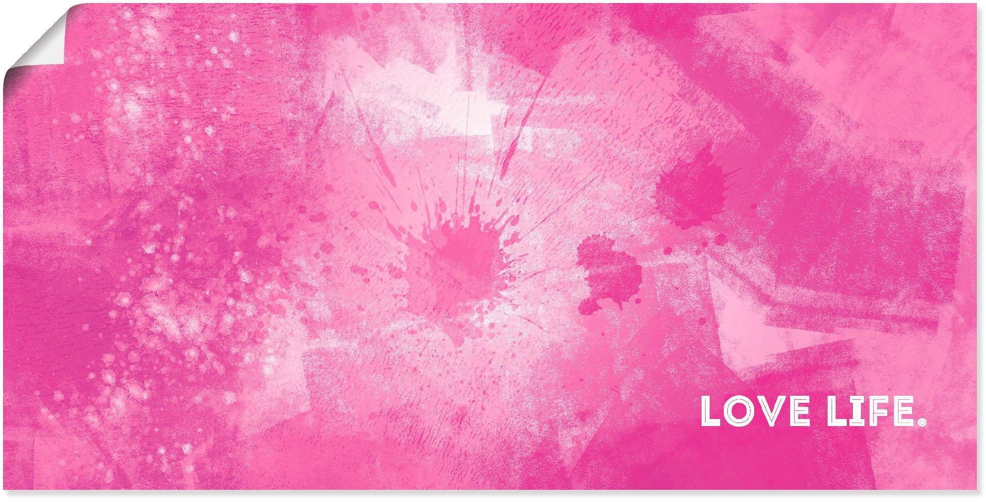 Artland artprint Emotionele kunst liefdesleven in vele afmetingen & productsoorten - artprint van aluminium / artprint voor buiten, artprint op linnen, poster, muursticker / wandfolie ook geschikt voor de badkamer (1 stuk) in de webshop van OTTO kopen