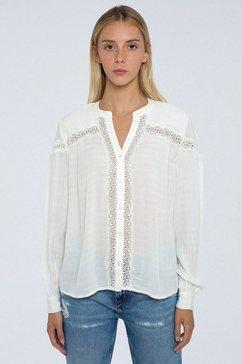 pepe jeans blouse zonder sluiting »carola« wit
