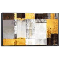 artprint op linnen »squares« goud